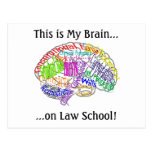 This is my brain...Law School Post Card