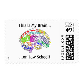 This is my brain...Law School Stamp