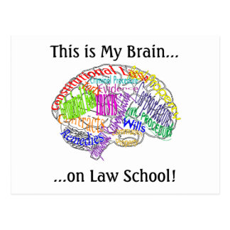 This is my brain...Law School Postcard