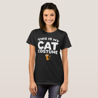 This Is My Cat Costume - Halloween T-Shirt