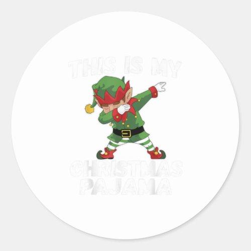 This Is My Christmas Pajama shirt Elf Ca Classic Round Sticker