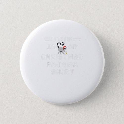 This Is My Christmas Pajama shirt lemur Button