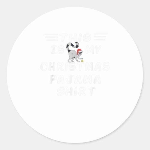 This Is My Christmas Pajama shirt lemur Classic Round Sticker