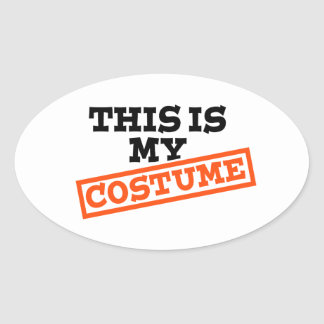 This is my costume oval stickers