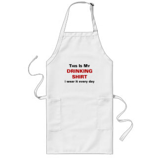 This Is My Drinking Shirt Long Apron