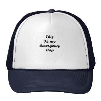 'This Is My Emergency Cap' Trucker Hat