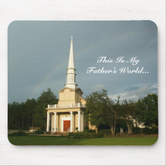 This Is My Father's World - Rainbow Church Steeple Mouse Pad