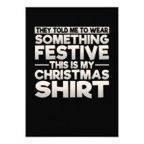 This Is My Festive Christmas Shirt Invitation