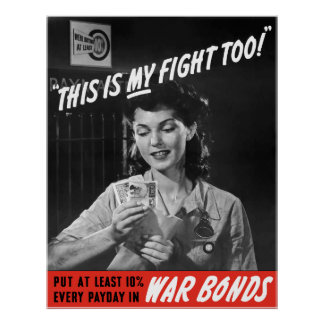 This Is My Fight Too! WW2 Poster