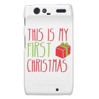 This is my FIRST Christmas newborn baby Xmas Motorola Droid RAZR Case