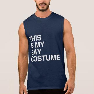 THIS IS MY GAY HALLOWEEN COSTUME SLEEVELESS SHIRTS