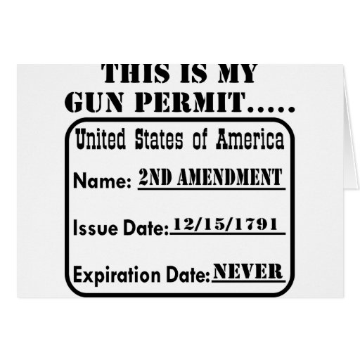 This Is My Gun Permit Greeting Card