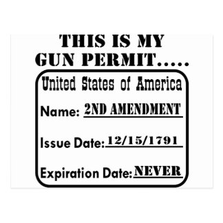 This Is My Gun Permit Postcard
