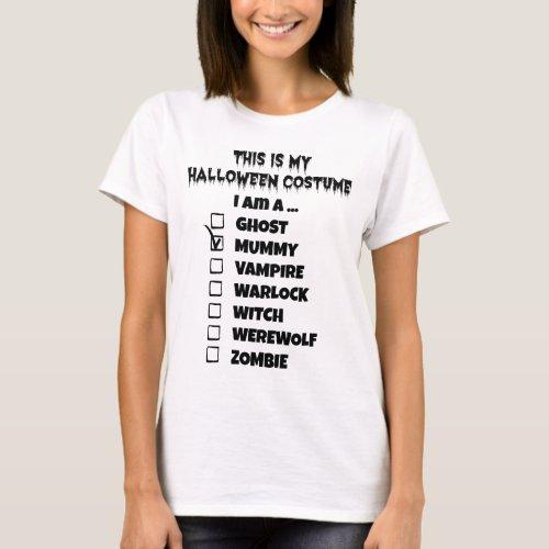This is My Halloween Costume - Check Mark Mummy T-Shirt