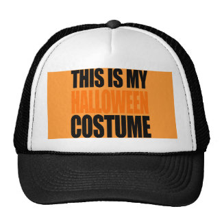 THIS IS MY HALLOWEEN COSTUME (orange) Mesh Hats