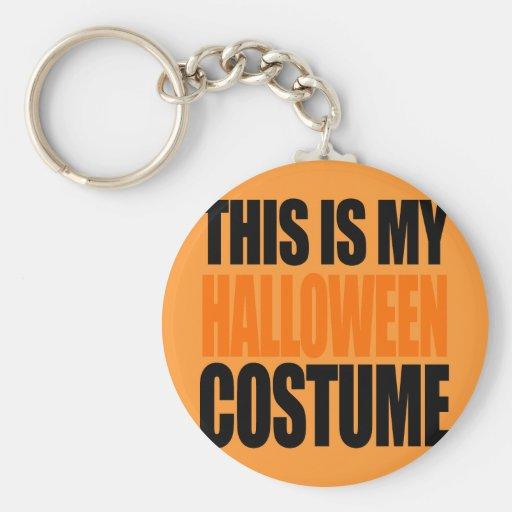 THIS IS MY HALLOWEEN COSTUME (orange) Key Chain