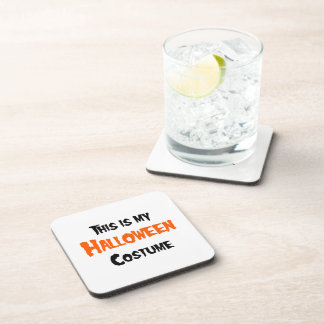 THIS IS MY HALLOWEEN COSTUME PLAIN BEVERAGE COASTERS
