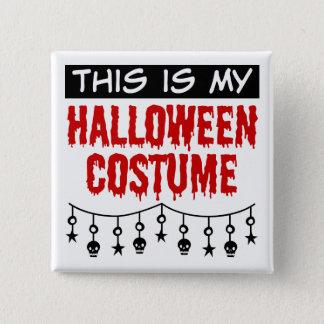 This is My Halloween Costume Skulls Stars Pinback Button