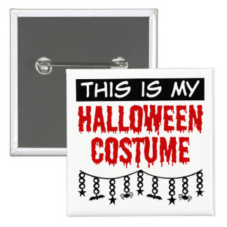 This is My Halloween Costume Spiders Bats Pinback Button