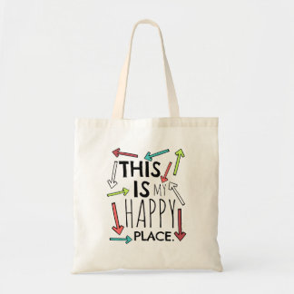 This is My Happy Place - Color Tote Bag