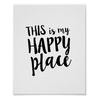 This is my Happy Place Family Home Quote Poster