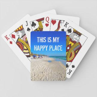 This Is My Happy Place On The Beach Playing Cards