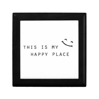 this is my happy place simple modern design gift box
