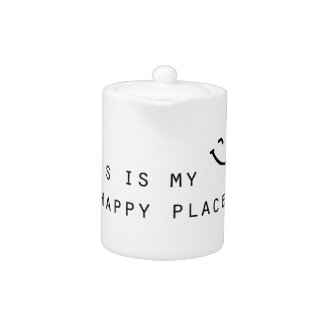this is my happy place simple modern design teapot