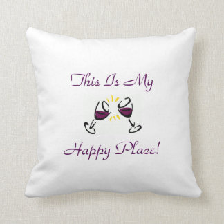 This Is My Happy Place! Throw Pillow