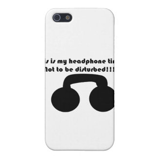 This is my headphone time! Not to be disturbed! iPhone SE/5/5s Case