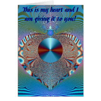 This Is My Heart Card- Thank you! Greeting Card