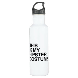 THIS IS MY HIPSTER COSTUME 24OZ WATER BOTTLE