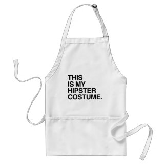 THIS IS MY HIPSTER COSTUME ADULT APRON
