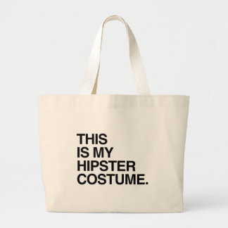 THIS IS MY HIPSTER COSTUME JUMBO TOTE BAG