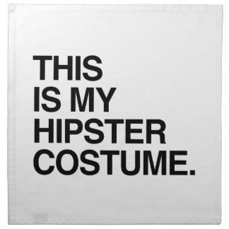 THIS IS MY HIPSTER COSTUME CLOTH NAPKIN