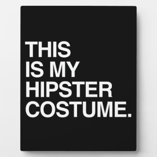 THIS IS MY HIPSTER COSTUME DISPLAY PLAQUES