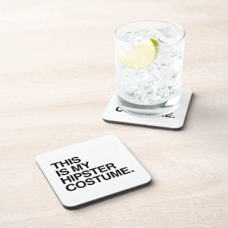THIS IS MY HIPSTER COSTUME DRINK COASTERS