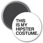 THIS IS MY HIPSTER COSTUME FRIDGE MAGNETS