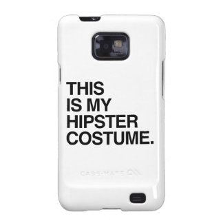 THIS IS MY HIPSTER COSTUME GALAXY SII CASES