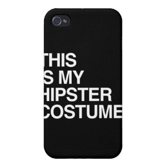 THIS IS MY HIPSTER COSTUME iPhone 4 CASES