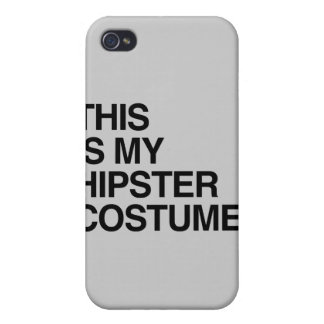 THIS IS MY HIPSTER COSTUME iPhone 4/4S CASES