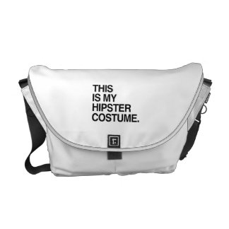 THIS IS MY HIPSTER COSTUME MESSENGER BAG