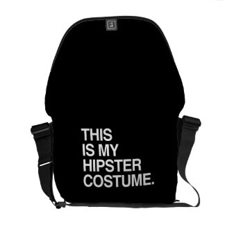 THIS IS MY HIPSTER COSTUME MESSENGER BAGS
