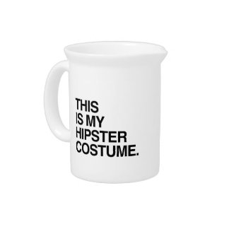 THIS IS MY HIPSTER COSTUME PITCHER