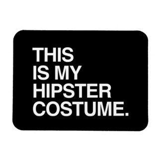 THIS IS MY HIPSTER COSTUME RECTANGULAR PHOTO MAGNET