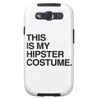 THIS IS MY HIPSTER COSTUME SAMSUNG GALAXY S3 CASE