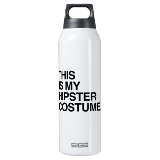 THIS IS MY HIPSTER COSTUME 16 OZ INSULATED SIGG THERMOS WATER BOTTLE
