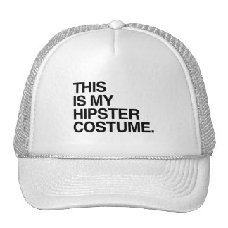 THIS IS MY HIPSTER COSTUME TRUCKER HAT