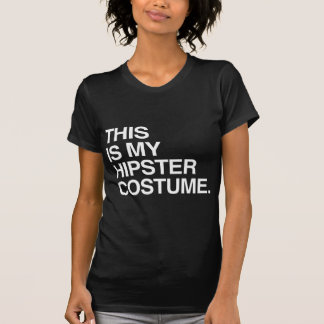 THIS IS MY HIPSTER COSTUME T-SHIRTS