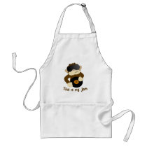 This is my jam, Monkey Adult Apron